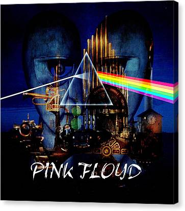 Pink Floyd Montage Canvas Print by P Donovan