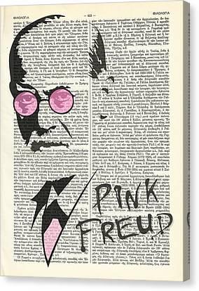 Pink Freud Canvas Print by Helena Kay
