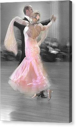 Pink Lady Dancing Canvas Print by Kevin Felts