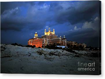 Pink Sand Castle Canvas Print by David Lee Thompson
