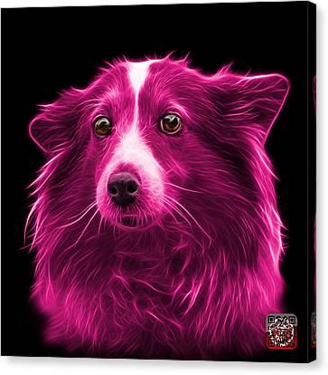 Pink Shetland Sheepdog Dog Art 9973 - Bb Canvas Print by James Ahn