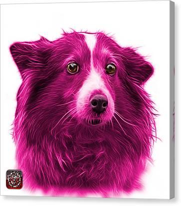 Pink Shetland Sheepdog Dog Art 9973 - Wb Canvas Print by James Ahn