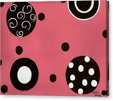Pink Swirly Curly Canvas Print by Katie Slaby