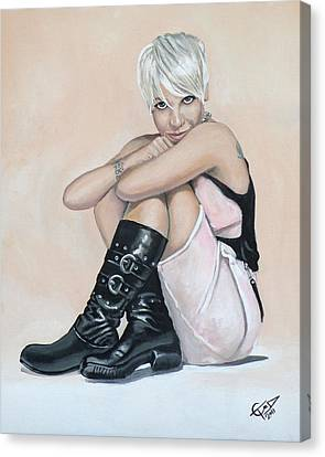 Pink Canvas Print by Tom Carlton
