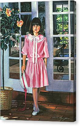Pinkie Canvas Print by David Lloyd Glover
