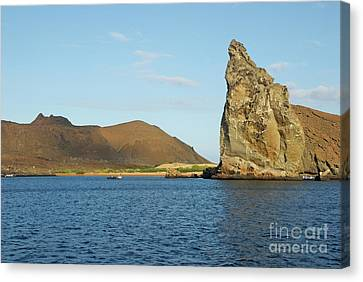 Pinnacle Rock From Sea Canvas Print by Sami Sarkis