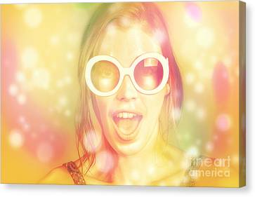 Pinup Beauty In Excited Fashion Abstract  Canvas Print by Jorgo Photography - Wall Art Gallery