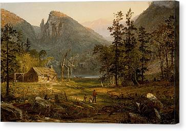 Pioneer's Home Eagle Cliff  White Mountains Canvas Print by Jasper Francis Cropsey