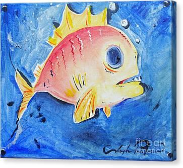 Piranha Art Canvas Print by Joseph Palotas
