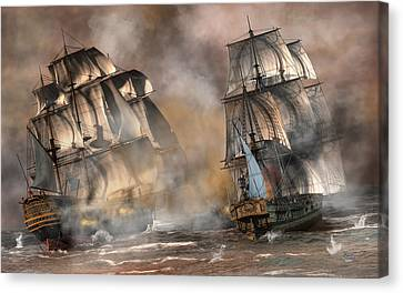 Pirate Battle Canvas Print by Daniel Eskridge