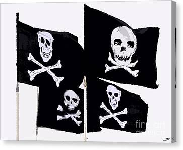 Pirate Flags Canvas Print by David Lee Thompson