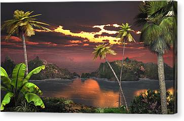 Pirate's Cove Canvas Print by Mary Almond
