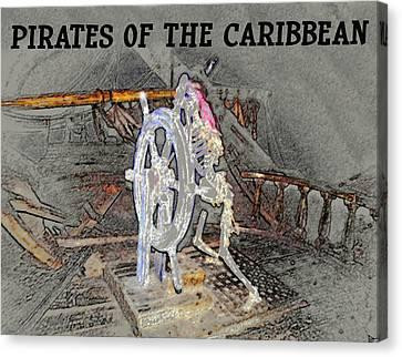 Pirates Skeleton Canvas Print by David Lee Thompson
