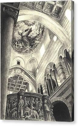 Pisa Duomo Canvas Print by Norman Bean