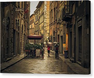Pisa In The Rain Canvas Print by Chris Fletcher