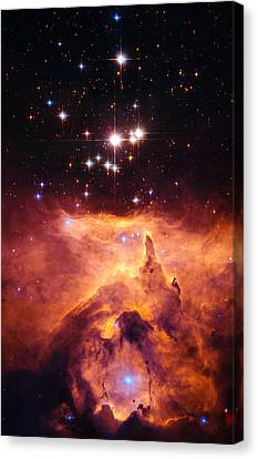 Pismis 24 And Ngc 6357 Canvas Print by Marco Oliveira
