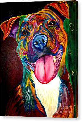 Pit Bull - Olive Canvas Print by Alicia VanNoy Call