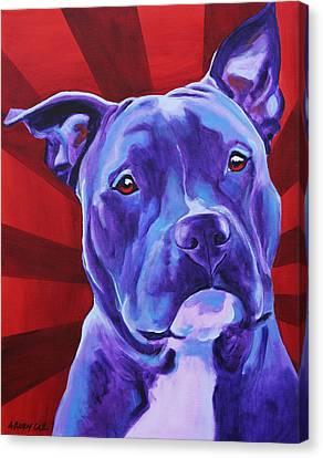Pit Bull - Shakti Canvas Print by Alicia VanNoy Call
