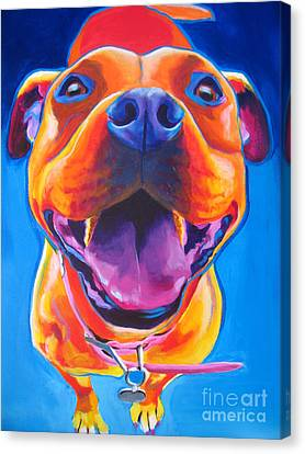 Pit Bull - Lots To Love Canvas Print by Alicia VanNoy Call