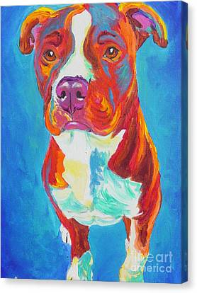 Pit Bull - Puppy Dog Eyes Canvas Print by Alicia VanNoy Call