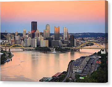 Pittsburgh 16 Canvas Print by Emmanuel Panagiotakis