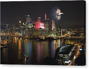 Pittsburgh 3 Canvas Print by Emmanuel Panagiotakis