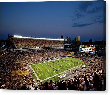 Pittsburgh Heinz Field At Dusk Canvas Print by Will Babin