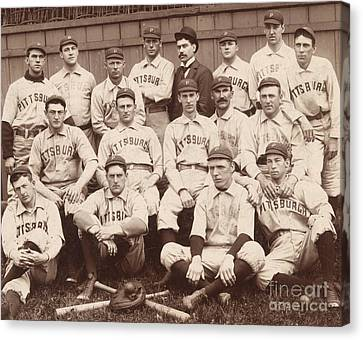 Pittsburgh National League Baseball Team Canvas Print by American School