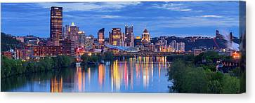 Pittsburgh Pano 13 Canvas Print by Emmanuel Panagiotakis