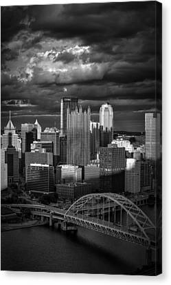 Pittsburgh Pennsylvania Skyline Canvas Print by David Haskett