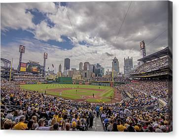 Pittsburgh Pirates 1 Pnc Park Canvas Print by David Haskett