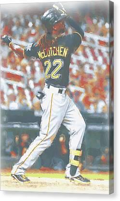 Pittsburgh Pirates Andrew Mccutchen 5 Canvas Print by Joe Hamilton