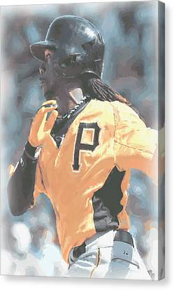 Pittsburgh Pirates Andrew Mccutchen Canvas Print by Joe Hamilton