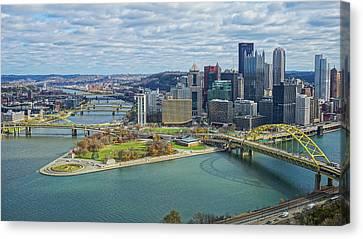 Pittsburgh Skyline Canvas Print by Jeremy Jones