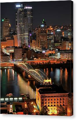 Pittsburgh Standing Tall Canvas Print by Frozen in Time Fine Art Photography