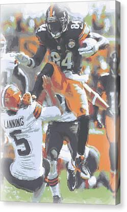 Pittsburgh Steelers Antonio Brown 4 Canvas Print by Joe Hamilton
