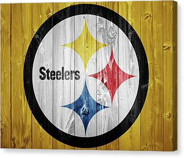 Pittsburgh Steelers Barn Door Canvas Print by Dan Sproul