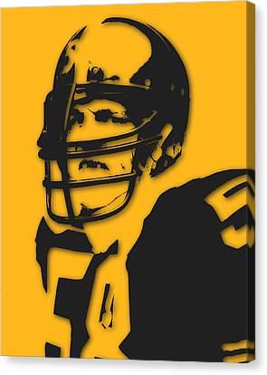 Pittsburgh Steelers Jack Lambert Canvas Print by Joe Hamilton