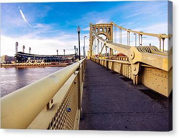 Pittsburgh Wide Bridge  Canvas Print by Paul Scolieri