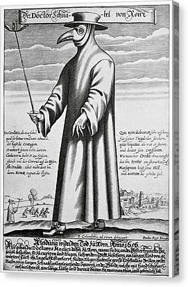 Plague Doctor, 17th Century Artwork Canvas Print by