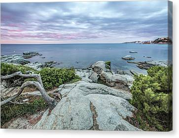 Plain Rocks Cove In Sant Antoni De Calonge Canvas Print by Marc Garrido