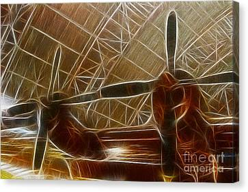 Plane In The Hanger Canvas Print by Paul Ward
