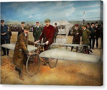 Plane - Odd - Easy As Riding A Bike 1912 Canvas Print by Mike Savad