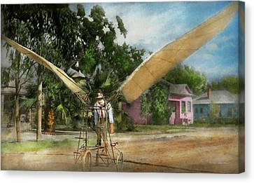 Plane - Odd - The Early Bird 1910 Canvas Print by Mike Savad