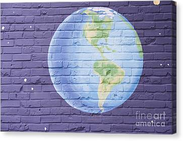 Planet Earth Canvas Print by Juli Scalzi