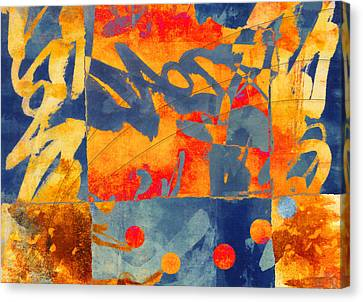 Planetary Celebration Canvas Print by Carol Leigh