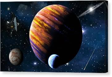 Planetary Life Canvas Print by Mario Carini