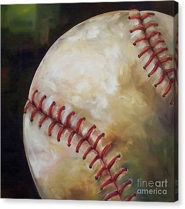 Play Ball Canvas Print by Kristine Kainer