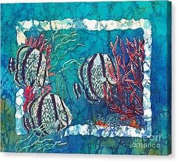 Playful Trio Canvas Print by Sue Duda
