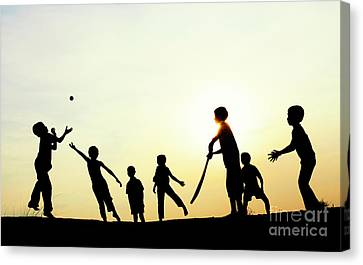 Playing French Cricket Canvas Print by Tim Gainey
